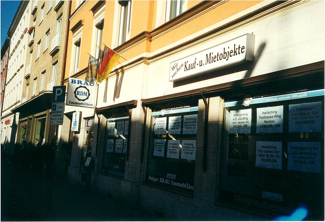 Holger Brau Immobilien München Humboldtstrasse Laden in den 1990ern