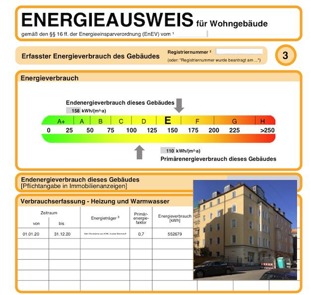 Energieausweis Gebaeudeenergiegesetz